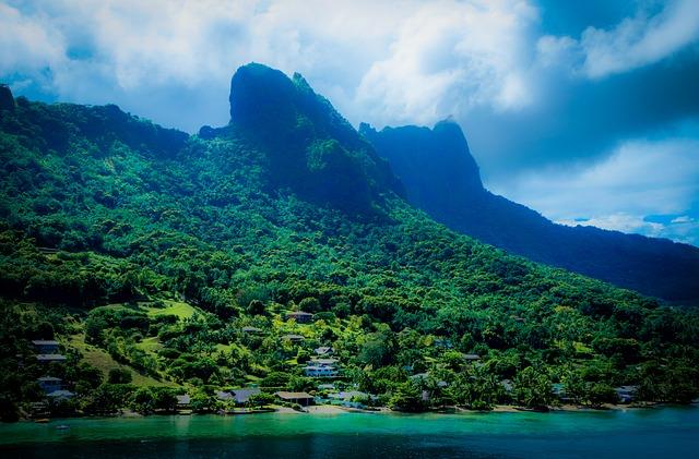Paysage île paradisiaque