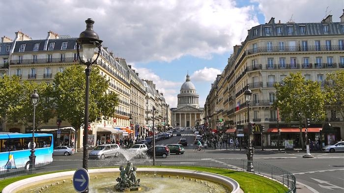 Paris, le Panthéon et la rue Soufflot