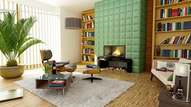Pièce intérieur décoration style rétro