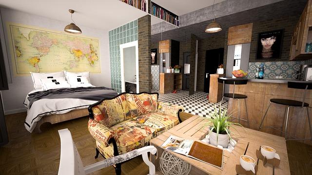 Pièce intérieur d'appartement