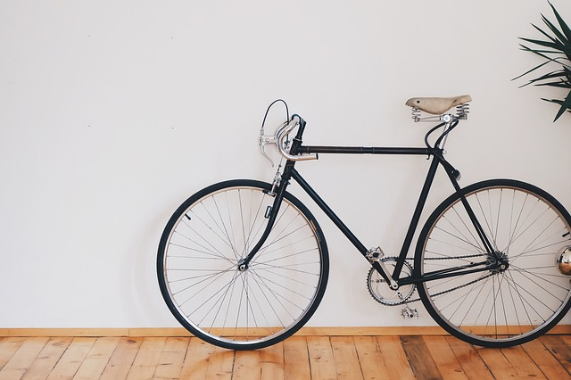 Vélo dans un appartement