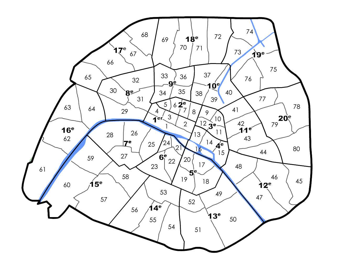 carte 80 zones paris quartiers