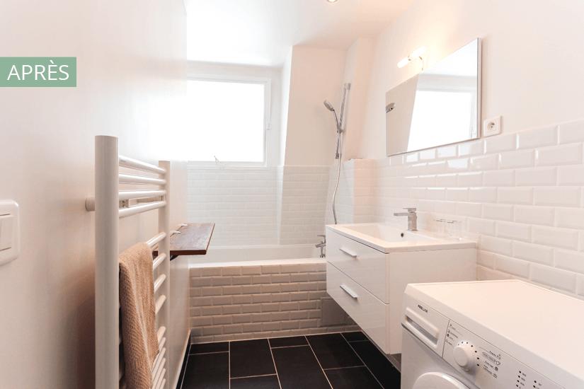 salle de bain style scandinave pour louer
