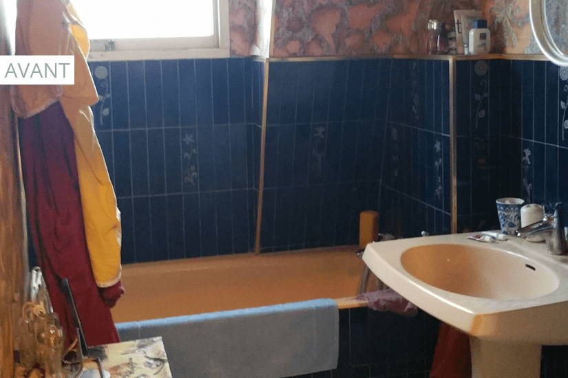 salle de bain à rénover pour investissement locatif