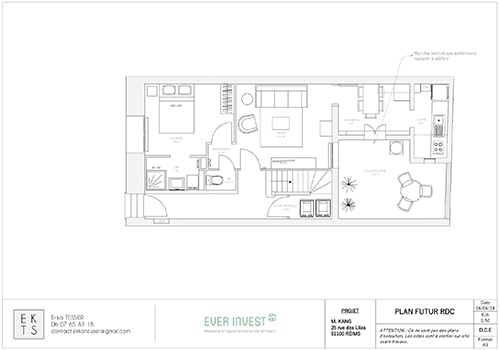 plan Immeuble de rapport Reims