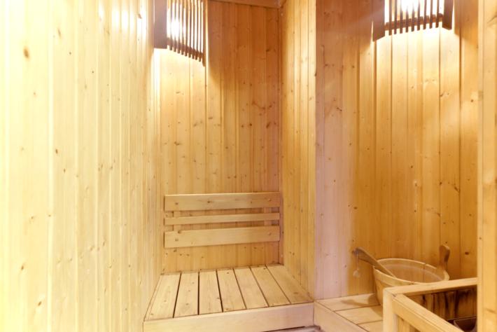 sauna dans un coliving